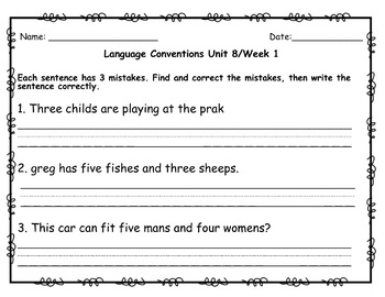 Benchmark Advance Second Grade Spelling & Language Quizzes (National)