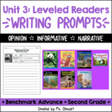 Benchmark Advance - Second Grade - Unit 3, Leveled Readers Writing Prompts