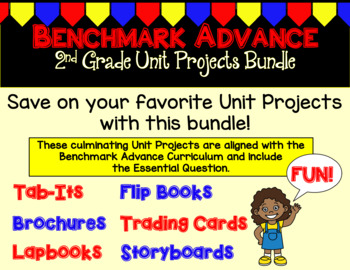 Benchmark Advance Second Grade Unit Project Bundle (California)