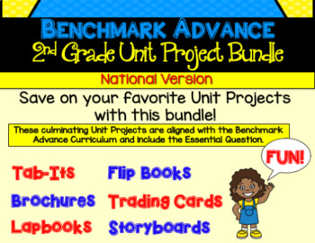 Benchmark Advance Second Grade Unit Project Bundle (National)