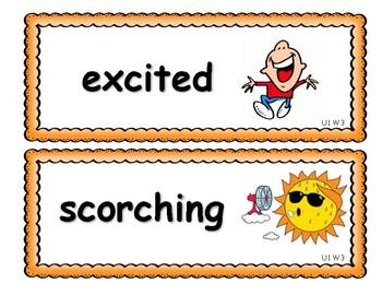Benchmark Advance Second Grade Vocabulary Cards Units 1 - 10 (National)