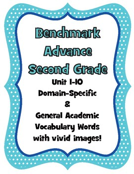 Benchmark Advance Second Grade Vocabulary Words and Images