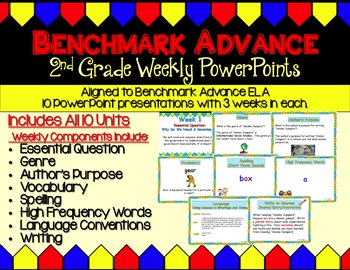 Benchmark Advance Second Grade Week 1 Freebie
