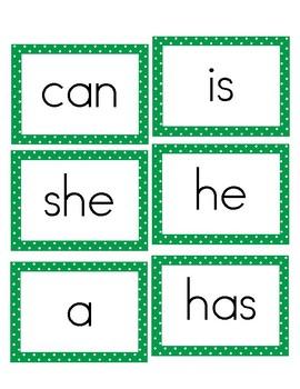 Benchmark Advance Sight Word Cards - Kindergarten