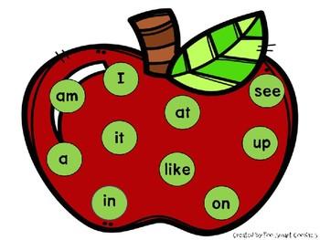 Benchmark Advance Kindergarten Sight Word Lotto List A-F (38+More)