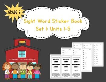 Benchmark Advance--Sight Words Sticker Book, Set 1 (Grade 2)