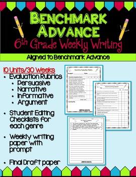 Benchmark Advance Sixth Grade Weekly Writing - Units 1 - 10 (B.A.Companion)