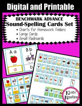 Benchmark Advance Sound Spelling Cards for Homework Folders