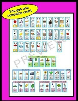 Benchmark Advance Sound Spelling Cards Charts and Flashcards