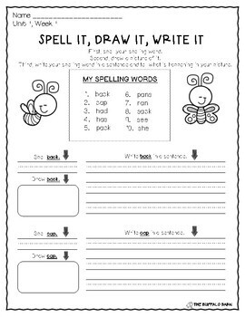 Benchmark Advance Spelling Activities for FIRST GRADE Units 1-10