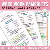Benchmark Advance Spelling & Grammar Pamphlets for Fourth