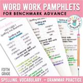 Spelling, Vocabulary, & Grammar Pamphlets - Fifth Grade (Benchmark Advance)