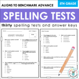 Benchmark Advance Spelling Tests (Fifth Grade)