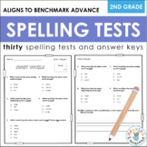 Second Grade Spelling Tests (Paper + Digital, Aligns to Benchmark Advance)