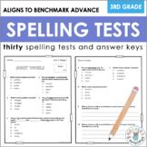 Third Grade Spelling Tests (Paper + Digital, Aligns to Ben