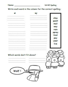 Benchmark Advance Spelling Worksheets (First Grade)