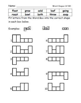 Benchmark Advance Spelling Worksheets Units 1-2 (2nd Grade)