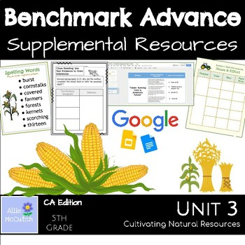 Benchmark Advance Supplemental Resources Unit 3 Cultivating Natural Resources