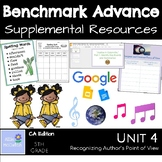 Benchmark Advance Supplemental Resources Unit 4 Recognizing Author's Pt of View