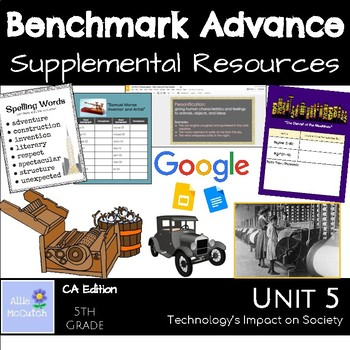 Benchmark Advance Supplemental Resources Unit 5 Technology's Impact on Society