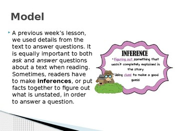 """Benchmark Advance  Supports - Third Grade - """"Unit 1 Week 2"""" - Lesson 6 -"""