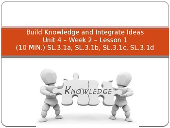 """Benchmark Advance Supports - Third Grade """"Unit 4 Week 2"""" - All You Need!"""