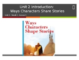 Benchmark Advance Supports - Unit 2 Week 1 - Ways Characters Shape Stories