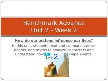 Benchmark Advance Supports for Unit 2 Week 2 - Ways Characters Shape Stories