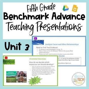 Benchmark Advance Teaching Presentations Unit 3 Whole Group 5th Grade