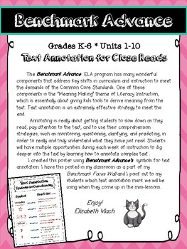 Benchmark Advance Text Annotation Poster