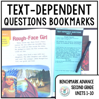 Benchmark Advance Text-Dependent Questions Bookmarks 2nd Grade Units 1-10 BUNDLE