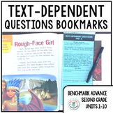 Benchmark Advance Text-Dependent Questions Bookmarks 2nd Grade Units 1-10