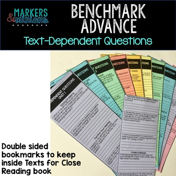 Benchmark Advance Text-Dependent Questions Bookmarks 4th Grade Units 1-10 BUNDLE