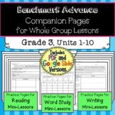 Benchmark Advance Companion Pages  *Grade 3 BUNDLE, Units 1-10
