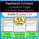 Benchmark Advance Companion Pages  *Grade 3 BUNDLE, Units 1-10
