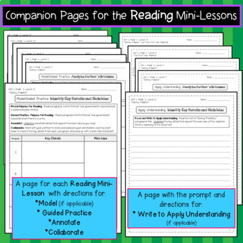 Benchmark Advance Texts for Close Reading Companion * Grade 5 BUNDLE-Units 1-10
