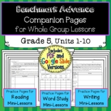Benchmark Advance Companion Pages * Grade 5 BUNDLE-Units 1-10