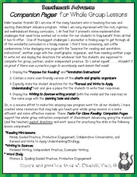 Benchmark Advance Texts for Close Reading Companion Pages * Grade 5, Unit 8
