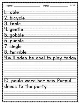 Benchmark Advance Third Grade Spelling Activities Units 1 - 10 (B.A. Companion)