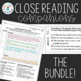 Benchmark Advance Third Grade Close Reading Companions BUNDLE! (Units 1-10)