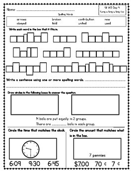 Benchmark Advance Third Grade Morning Work (California)