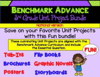 Benchmark Advance Third Grade Project Bundle (National)