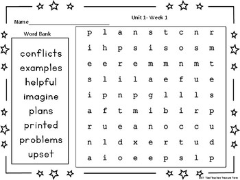 Benchmark Advance Third Grade Spelling Word Find