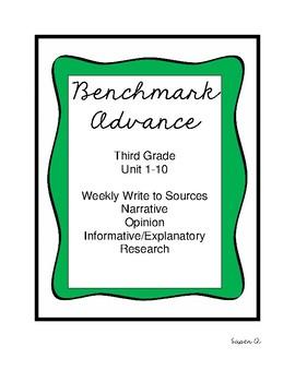 Benchmark Advance Third Grade Unit 1-10 Writing