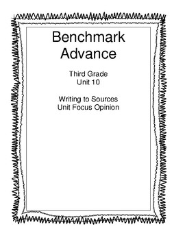 Benchmark Advance Third Grade Unit 10 Unit Write