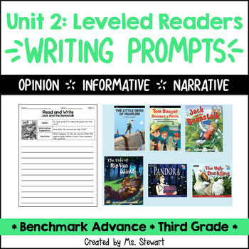 Benchmark Advance - Third Grade - Unit 2, Leveled Readers Writing Prompts