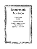 Benchmark Advance Third Grade Unit 6 Spelling Lists