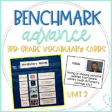 Benchmark Advance 3rd Grade Vocabulary Word, Picture & Definition Cards Unit 2