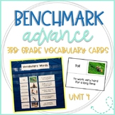 Benchmark Advance 3rd Grade Vocabulary Word, Picture & Definition Cards Unit 4