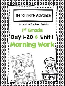Benchmark Advance Unit 1 First Grade Morning Work